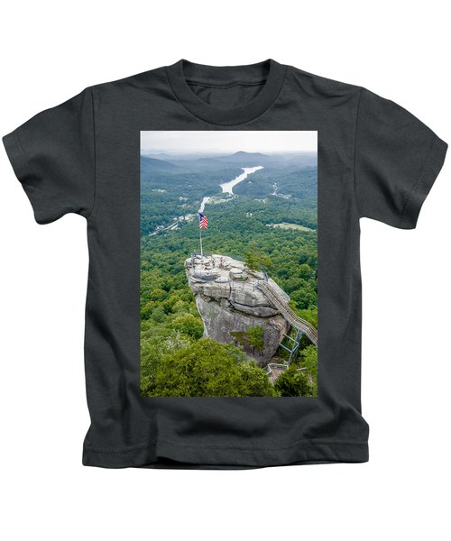 Lake Lure And Chimney Rock Landscapes Kids T-Shirt