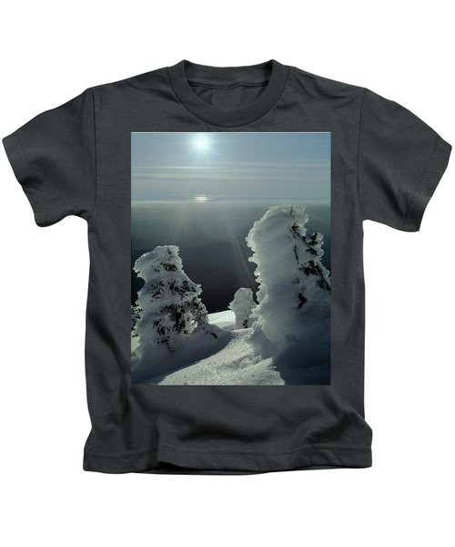 2m4415 A Ice Covered Trees Over Puget Sound Kids T-Shirt