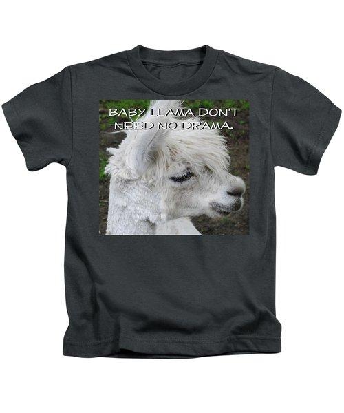 Baby Llama Kids T-Shirt by Ellen Henneke