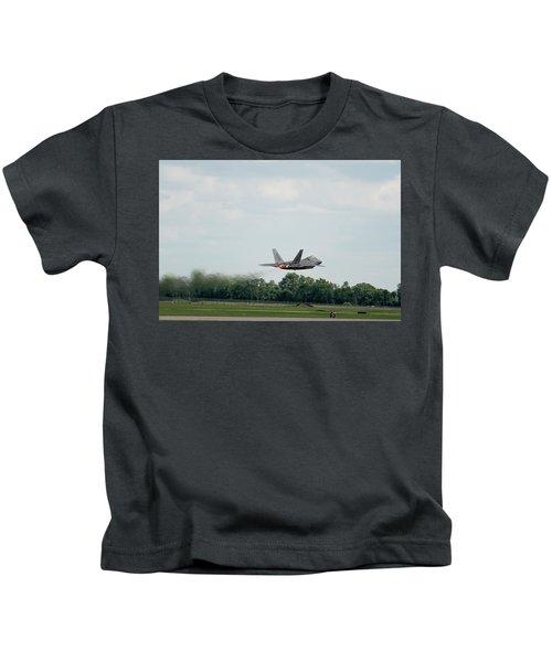 F-22 Taking Off Kids T-Shirt