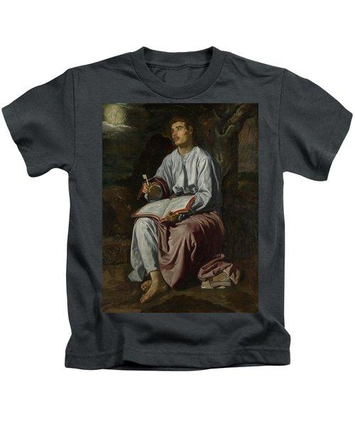 Saint John The Evangelist On The Island Of Patmos Kids T-Shirt