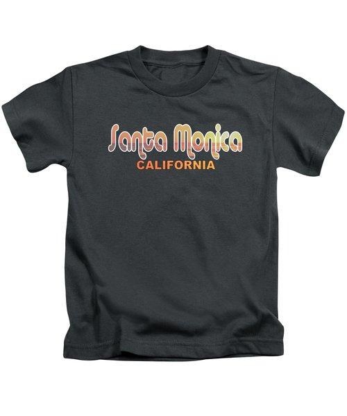 Santa Monica Kids T-Shirt by Brian's T-shirts