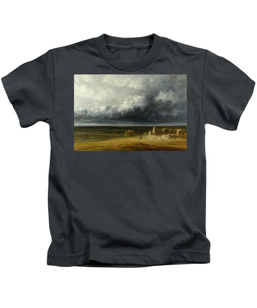 Stormy Landscape With Ruins On A Plain Kids T-Shirt