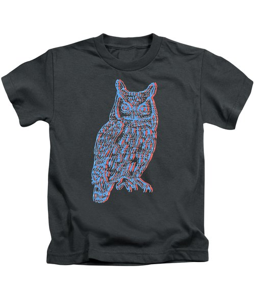 3d Owl Kids T-Shirt by Cold Wash