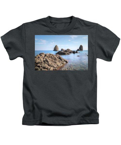 Aci Trezza - Sicily Kids T-Shirt by Joana Kruse