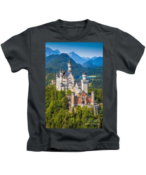 Neuschwanstein Fairytale Castle Kids T-Shirt