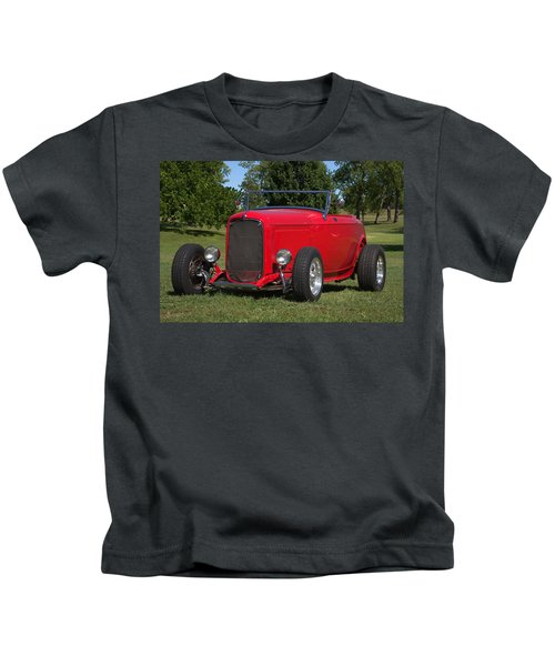 1932 Ford Roadster Hot Rod Kids T-Shirt
