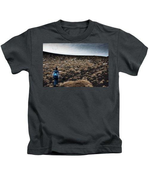 Etna, Red Mount Crater Kids T-Shirt