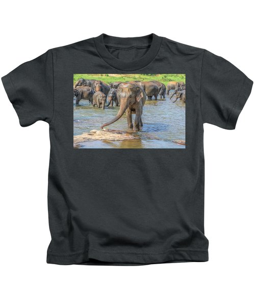 Pinnawala - Sri Lanka Kids T-Shirt