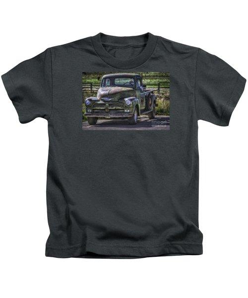 54 Chevy 3600 Stepside Kids T-Shirt