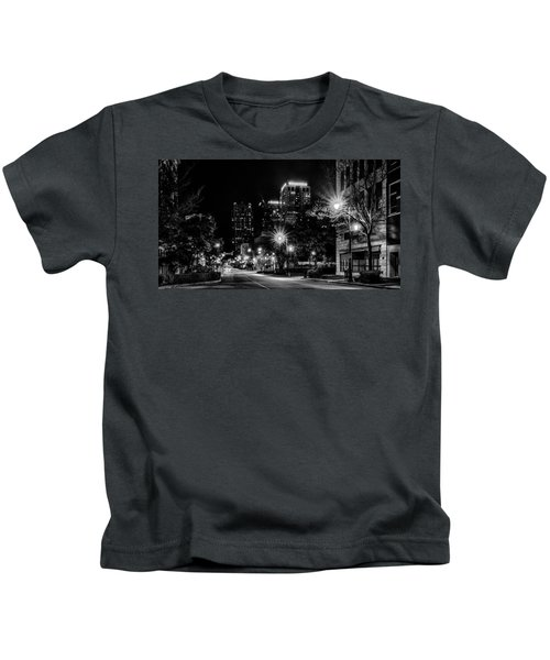 Birmingham Alabama Evening Skyline Kids T-Shirt