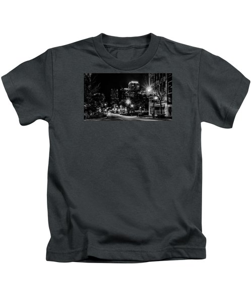 Birmingham Alabama Evening Skyline Kids T-Shirt