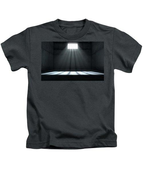 Sunshine Shining In Prison Cell Window Kids T-Shirt