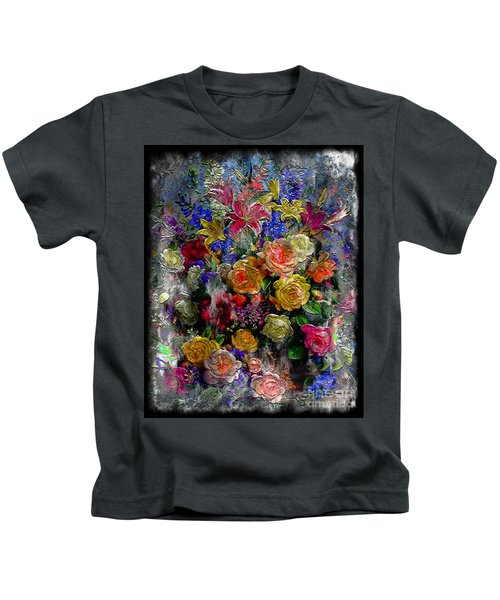 7a Abstract Floral Painting Digital Expressionism Kids T-Shirt