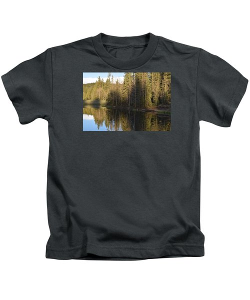 Shadow Reflection Kiddie Pond Divide Co Kids T-Shirt
