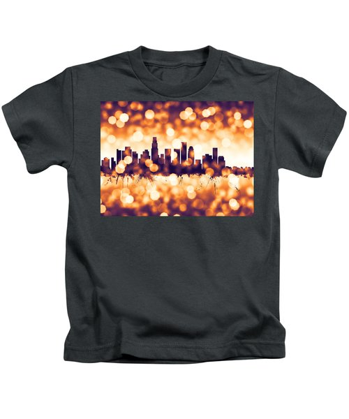 Los Angeles California Skyline Kids T-Shirt