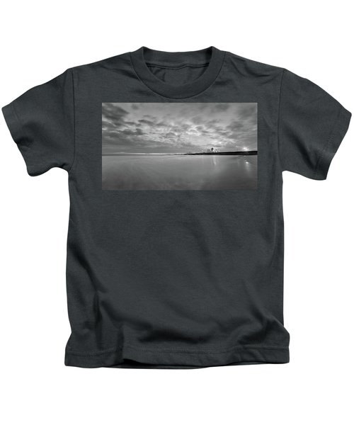 A Beach And A Bunch Of Boats Kids T-Shirt