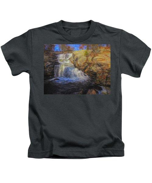 A Beautiful Connecticut Waterfall. Kids T-Shirt