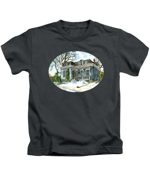A Cozy Winter Cottage Kids T-Shirt