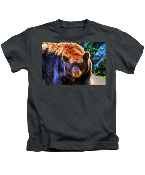 A Curious Black Bear Kids T-Shirt