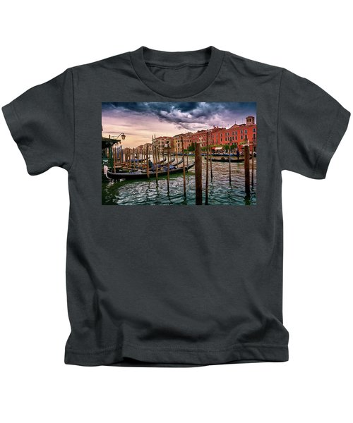 Surreal Seascape On The Grand Canal In Venice, Italy Kids T-Shirt