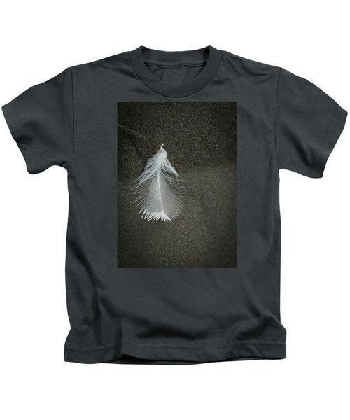 A Feather At The Edge Of The Water Kids T-Shirt