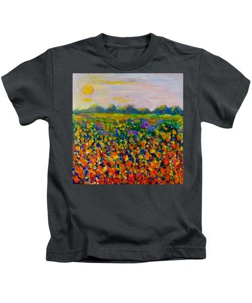 A Field Of Flowers #1 Kids T-Shirt