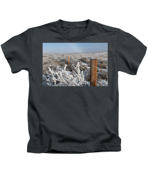 A Frosty And Foggy Morning On The Way To Steamboat Springs Kids T-Shirt