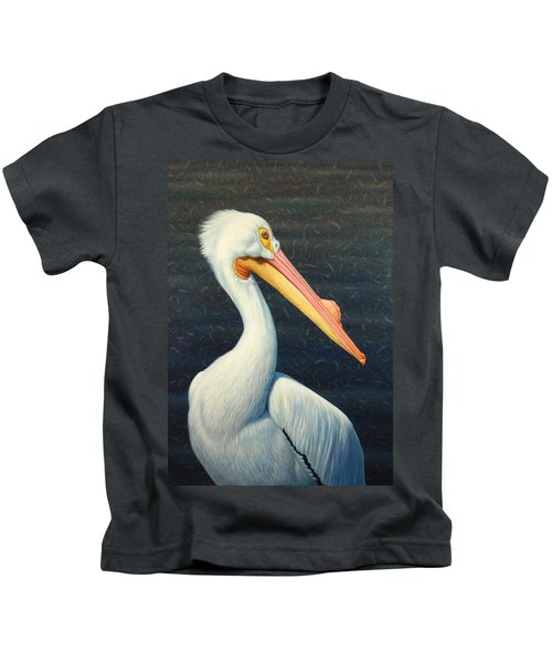 A Great White American Pelican Kids T-Shirt