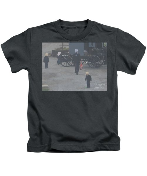 A Handful For Mom Kids T-Shirt