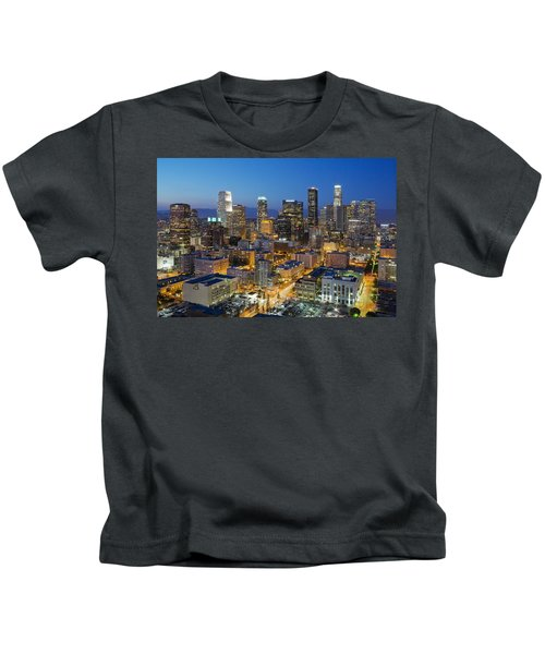 A Night In L A Kids T-Shirt by Kelley King