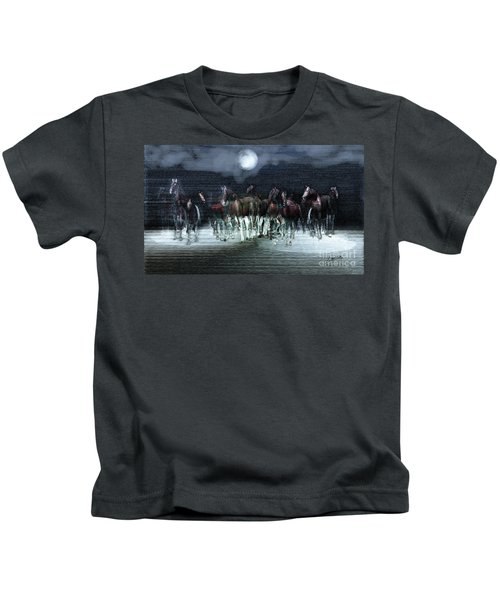 A Night Of Wild Horses Kids T-Shirt