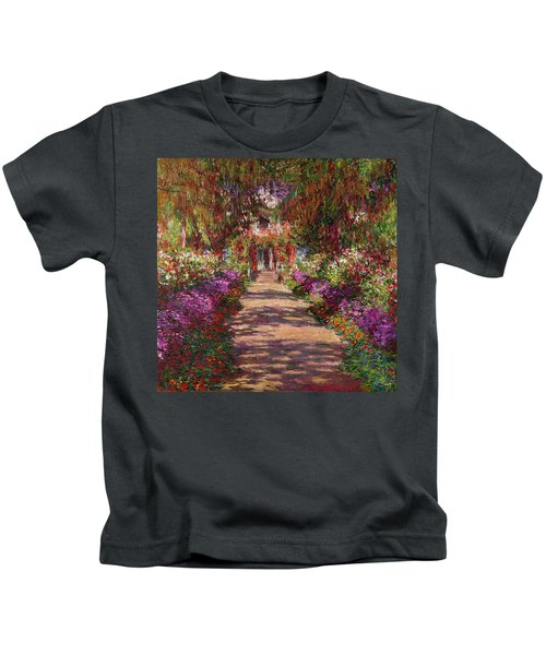 A Pathway In Monets Garden Giverny Kids T-Shirt