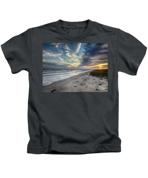 A Peaceful Beach Sunset Kids T-Shirt
