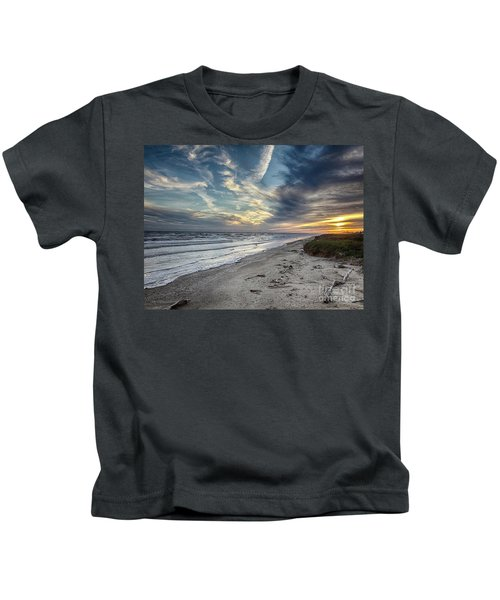 A Peaceful Beach Sunset Kids T-Shirt