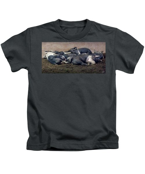 A Pile Of Pampered Piglets Kids T-Shirt
