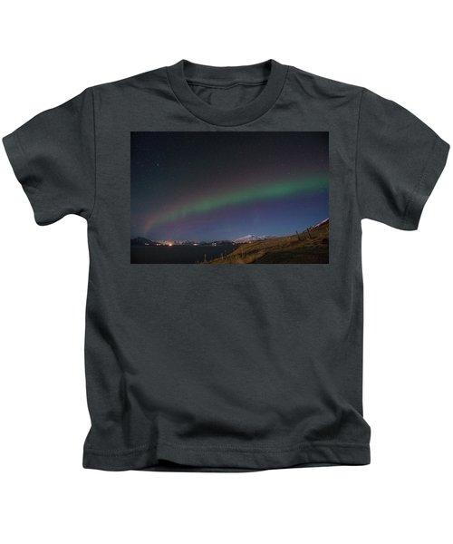 A Ribbon Of Northern Lights Kids T-Shirt