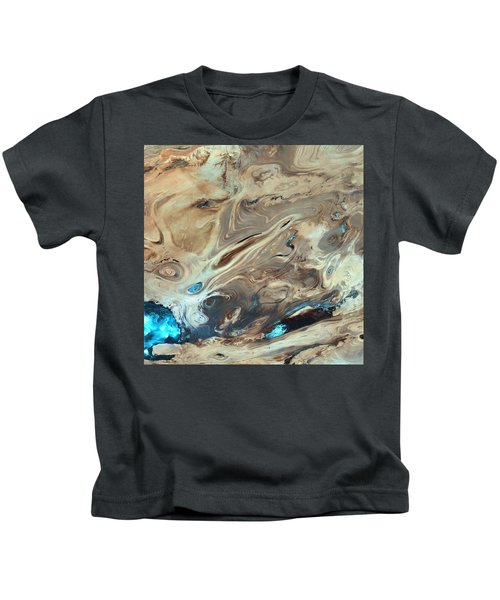 A Satellite Picture Of The Dasht-e Kavir Desert In Iran. Kids T-Shirt