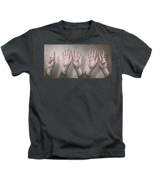 A Show Of Hands Day 197 Kids T-Shirt
