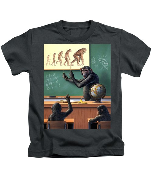 A Specious Origin Kids T-Shirt by Jerry LoFaro