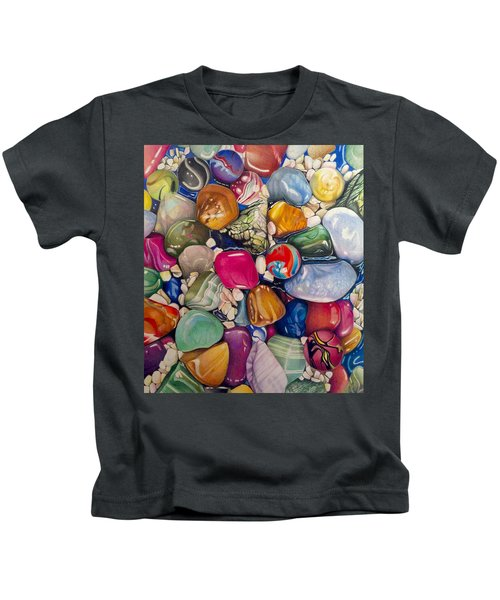 A Splash Of Color And Hardness Kids T-Shirt