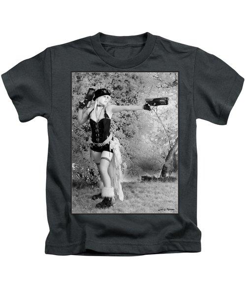 A Steam Punk Heroine Kids T-Shirt