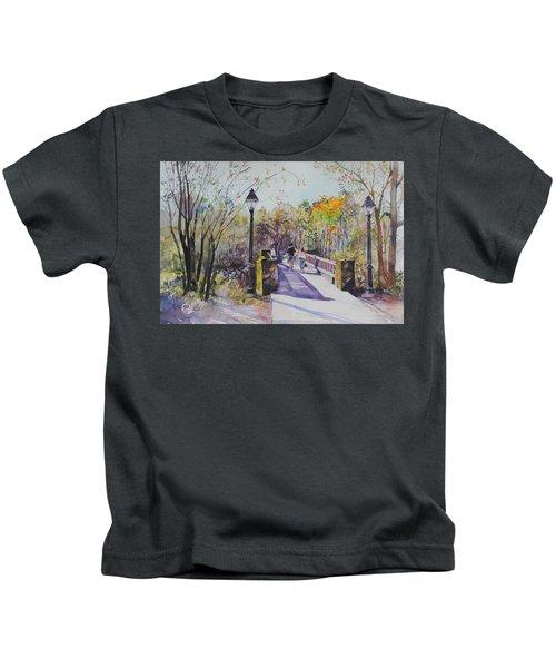 A Stroll On The Bridge Kids T-Shirt