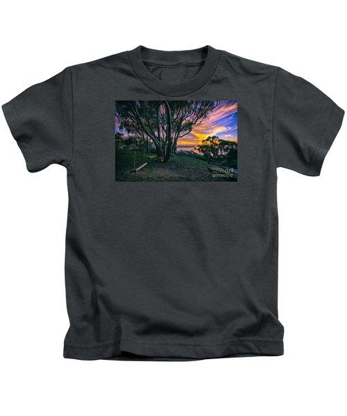 A Swinging Sunset From The Secret Swings Of La Jolla Kids T-Shirt