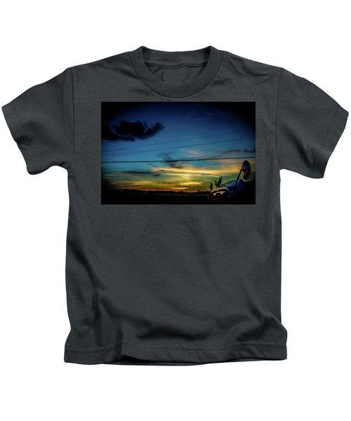 A Trucker's View Kids T-Shirt