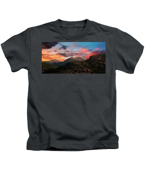 A View From The Alpine Loop At Sunset In The San Juan Mountains Kids T-Shirt