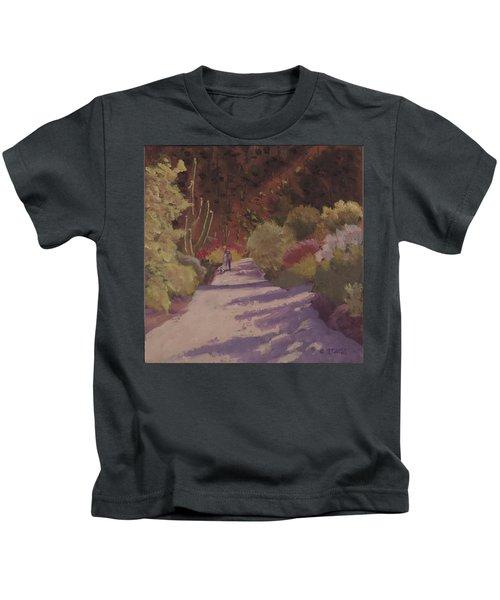 A Walk  On A  Sonoran Desert Road - Art By Bill Tomsa Kids T-Shirt