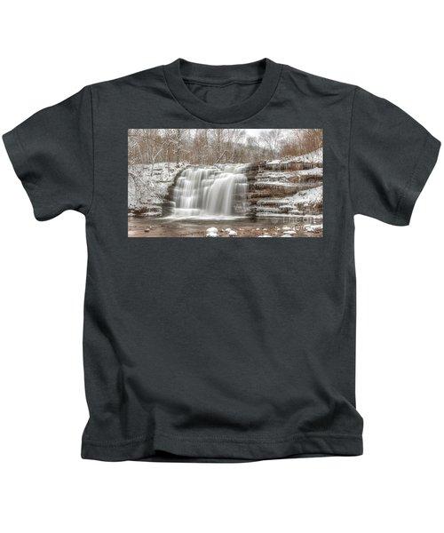 A Winter Waterfall - Color Kids T-Shirt