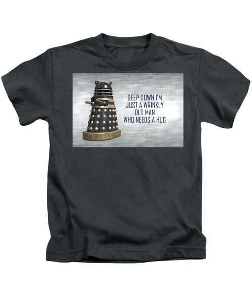 A Wrinkly Old Man Who Just Needs A Hug Kids T-Shirt