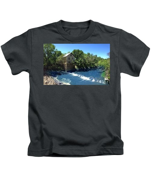 Abandoned Mill At Cedar Point Kids T-Shirt
